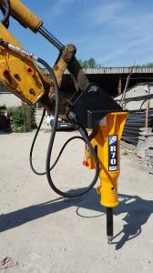 Mlot hydrauliczny Arrowhead R70 Komatsu WB93 02