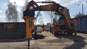 Mlot hydrauliczny Arrowhead R75 Cat428d 01